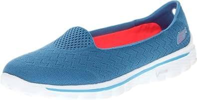 Skechers Performance Women's Go Walk 2 Axis Slip-On Walking Shoe,Light Blue,7 M US