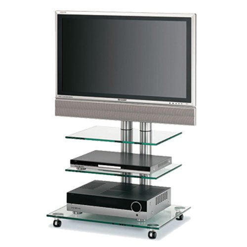 Bentley Mounts Favs18 Glass Plasma Stand/Cart For 37 To 50 Inches Plasma