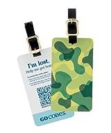 GoCodes® Smart QR Bar Code Luggage Tag - Camo Green One Size