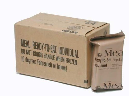 MRE (Meals Ready-to-Eat) Box B, Genuine U.S. Military Surplus, Menus 13-24