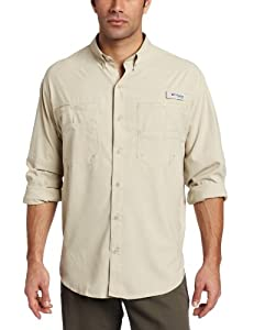 Columbia Men's Tamiami II Long Sleeve Shirt, Fossil, X-Small