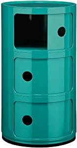3 Drawer Turquoise Office Bathroom Salon Kitchen Storage Cabinet Unit Rack New