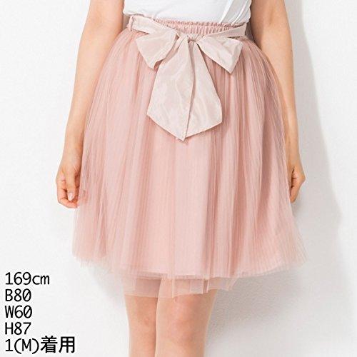 ウィルセレクション(WILLSELECTION) [着丈が選べる]チュールプリーツスカート(レギュラー丈)【ピンク/M】