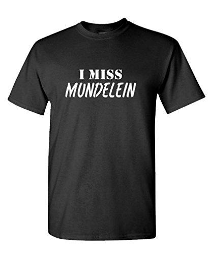 I MISS MUNDELEIN - FUNNY CITY STATE HOMETOWN - 100% Cotton T-Shirt, 3XL, Black (Party City Mundelein)