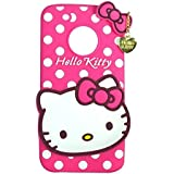 Yes2Good 3D Cute Style Hello Kitty Soft Back Cover For Motorola Moto G5 Plus - Pink