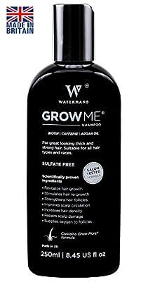 Best Hair Growth Shampoo Sulfate Free, Caffeine, Biotin, Argan Oil, Allantoin, Rosemary. Stimulates hair re-growth, Helps Stop Hair Loss, Grow Hair Fast, Hair Loss Treatment for Men & Women