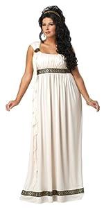 California Costumes Women's Plus-Size Olympic Goddess Plus, Cream, 3X