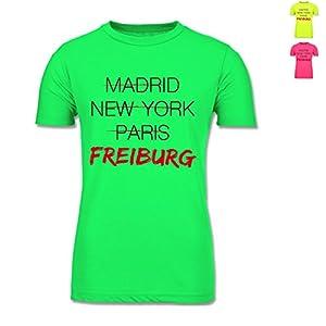 BCTM250 Männer Herren Neon T-Shirt Men-Only PC - Städte - Weltstadt Freiburg