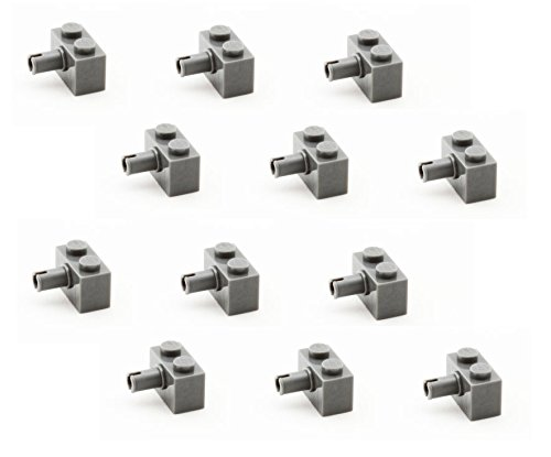 Lego Parts: Brick, Modified 1 x 2 with Pin (PACK of 12 - DBGray) (Ninja Turtle Kraang Lab Escape compare prices)