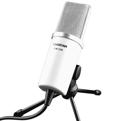Takstar Pcm-1200 Plug 3.5Mm Professional Dynamic Microphones For Skype Msn Qq Internet Chat Computer Mic--White