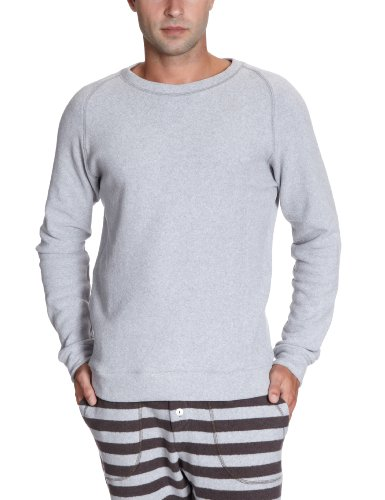 Okha Men's Eric Home Soft Graumelange Sweatshirt Grey (Graumelange) 48