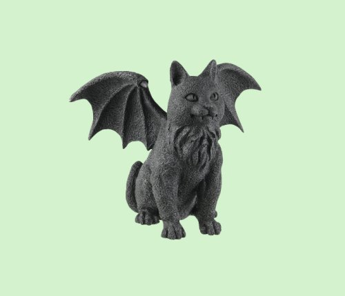 Winged Cat Gargoyle  Ships in 12 Business Days !! Picture