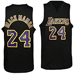 NBA Los Angeles Lakers Kobe Bryant Black Mamba Black Swingman Jersey-[MENS--SMALL] by NBA Los Angeles Lakers