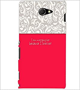 PrintDhaba Quote D-2630 Back Case Cover for SONY XPERIA M2 (Multi-Coloured)