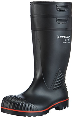 Dunlop-A442031-S5-ACIF-KNIE-ZWART-41-Unisex-Erwachsene-Halbschaft-Gummistiefel-Schwarz-SchwarzZwart-00-41-EU