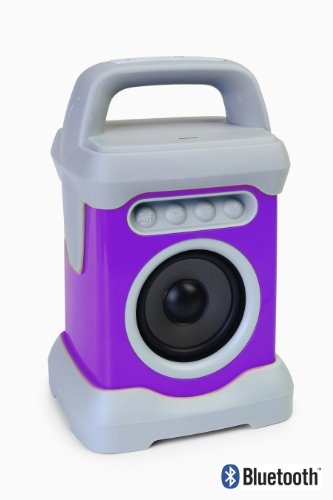 Ivation Bluetooth Waterproof Wireless Speaker For Music, Radio & Podcasts - Perfect In Shower, At The Beach, Bath Or Poolside For Android, Iphone, Ipod And Other Mp3 Players - Purple