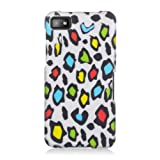 Graphic Rubberized Shield Hard Case For BlackBerry Q10 - Rainbow Leopard (Package Include A HandHelditems Sketch...
