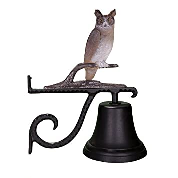 Montague Metal Products Cast Bell with Color Owl by Montague Metal Products