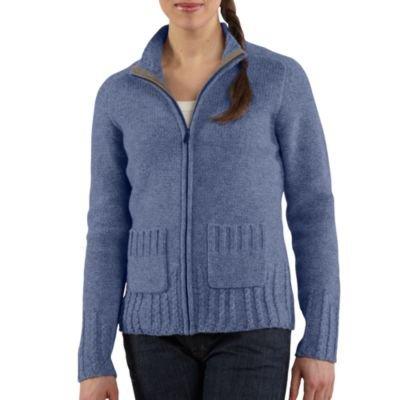 Carhartt WK108 Women's Full-Zip Sweater Patriot Blue Heather XX-Large