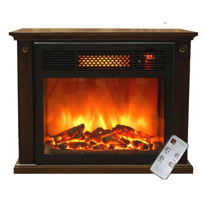 Sunheat International Tw15Fp Espresso Portable Infrared Electric Fireplace With Remote, 25-Inch, Espresso front-706050
