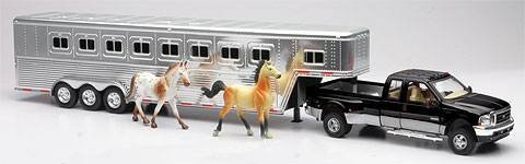 Ford F-350 Fifth Wheel W/ Horse Trailer Truck & 2 Horses front-867841