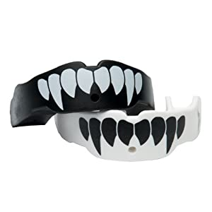 TapouT Adult Special Edition Fang Mouth Guard, Black/White