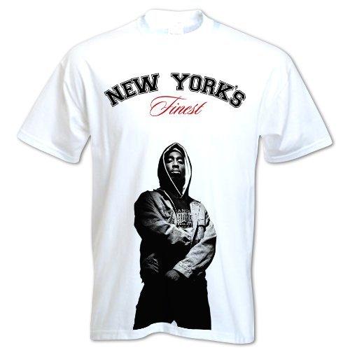 Bang Tidy Clothing Men'S Tupac Shakur 2Pac West Coasts Finest Hip Hop Inspired Design T-Shirt Xx-Large White