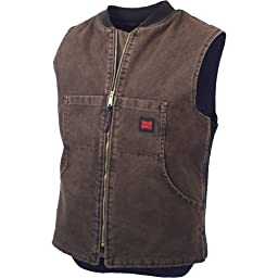 "Tough Duckâ""¢ Washed Quilt - Lined Vest, CHESTNUT, 2XL"