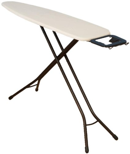 Household Essentials Classic Top Bronze Finish 4-Leg Ironing Board with Natural Cotton Cover (Leg Leg Ironing Board compare prices)