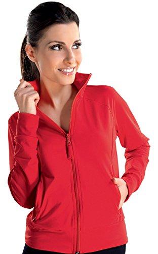 BETTINA gwinner giacca da donna per il tempo libero Fitness Studio, rosso, Rosso (rosso), S