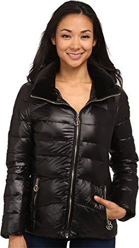Calvin Klein Womens Short Down Coat w/ Gold Hardware