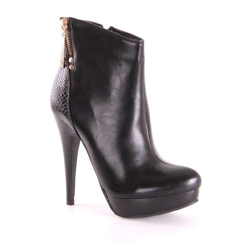 Jumex, Scarpe col tacco donna, Nero (nero), 35