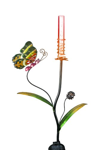 Transcontinental-Group-Red-Butterfly-Garden-Stake-with-Color-Changing-Solar-Powered-LED