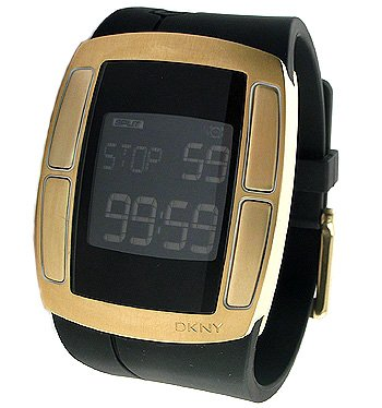 DKNY - NY1386 - Digital - Montre Homme - Bracelet en resin noire