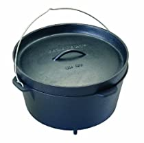 Texsport Pre-Seasoned Cast Iron Dutch Oven - 12 Quart