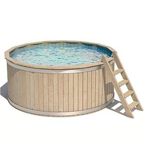 Isidor pool holzpool schwimmbecken swimmingpool rundpool for Swimming pool holzpool