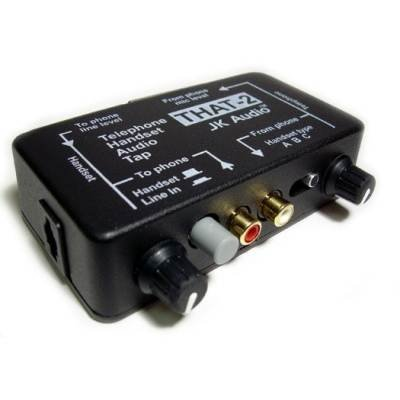 JK Audio THAT-2 Telephone Interface with XLR I/O - works with analog digital PBX & ISDN telephones