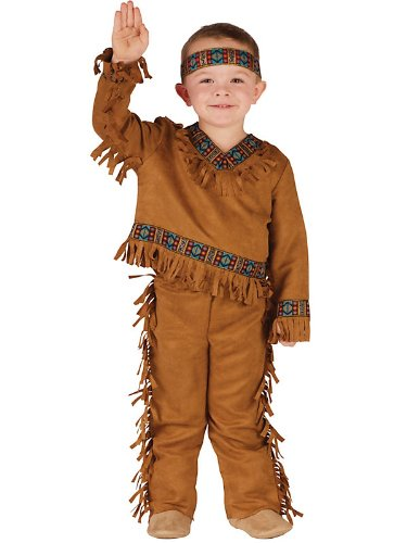 American Indian Boy Toddler Costume 3T-4T - Toddler Halloween Costume