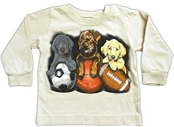 Wes & Willy Long Sleeve Sports Shirt - Sports Dogs 12 Month