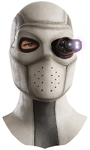 Rubie's Men's Suicide Squad Deadshot Overhead Lighted Latex Mask,