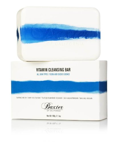 Baxter of California Vitamin Cleansing Bar, Flora and Cassis, 7 oz Cassis Bath