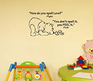 Newsee Decals How Do You Spell Love Winnie The Pooh Vinyl