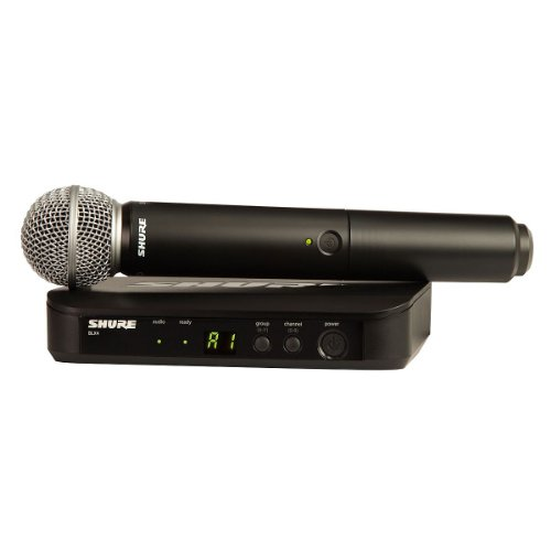 New Shure | High-Performance Handheld Wireless System Featuring Sm58 Microphone, Blx24/Sm58 With Handheld Transmitter, Receiver, And Microphone Clip (H8 : 518-542Mhz)