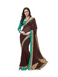 Subhash Sarees Daily Wear Brown Color Chiffon Saree Sari Sarees