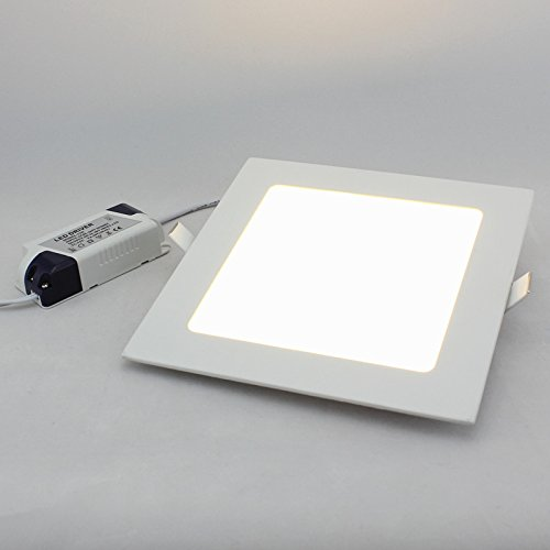 Twopages 12W 960Lm Square Panel Downlight, Mount Hole 155*155Mm, 100~240V Input