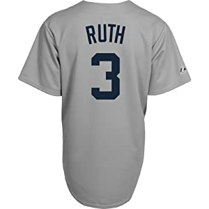 Majestic Athletic New York Yankees Babe Ruth Replica Cooperstown Road Jersey by Majestic Athletic