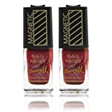 2 x Barry M Special Effects Magnetic Nail Varnish Paint - 327 Burgundy Polish