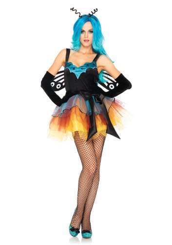Leg Avenue Women's 2 Piece Butterfly Fairy Dress with Satin Sash and Headband