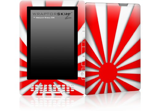 Skin for Amazon Kindle DX - Rising Sun Japanese Red by WraptorSkinz