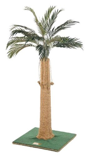 Kitty Palm Cat Tree with Palm Top, Green Carpet, Manila ...